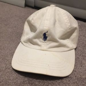 White polo Ralph Lauren hat